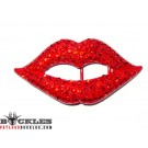 Rhinestone Lips Belt Buckle