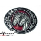 Western Horse Belt Buckle