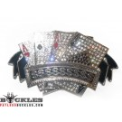 Rhinestone Poker Ace Card Belt Buckle