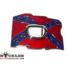 Bottle Opener Confederate Flag Belt Buckle