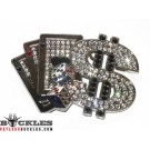 Rhinestone Ace Dice Poker Belt Buckle - Card Belt Buckle