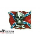 Confederate Rebel Flag belt Buckle