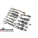 Pack of 12 Biker Leather Keychain #13