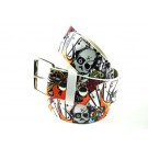 Wholesale Skull Print Belt - Fun023