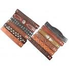 #1 Pack of 12 Geniune Leather Bracelets