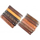 #2 Pack of 12 Geniune Leather Bracelets