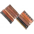 #3 Pack of 12 Geniune Leather Bracelets