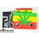 Wholesale Marijuana Rasta Flag Chain Wallets