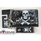 Wholesale Skull Cross Bone Chain Wallets