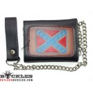 Wholesale Confederate Flag Leather Chain Wallets