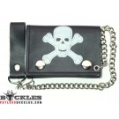 Wholesale Skull Leather Chain Wallets