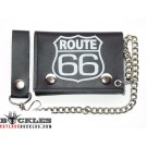 Wholesale Route 66 Leather Chain Wallets
