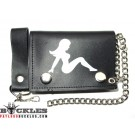 Wholesale Leather Chain Wallets Trucker Lady