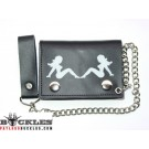Wholesale Trucker lady Leather Chain Wallets